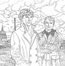 Featuring Intricate Artwork Of The Cast And Classic Scenes From Show Sherlock Colouring Book Is Perfect For Any Holmes Fan Or Anyone