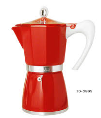 Bella Aluminum Stove Top Espresso Coffee Makers By GAT New Twist On A Classic Red