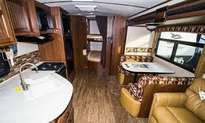 Interior Of A Jayco White Hawk Travel Trailer