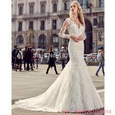 Vestido De Noiva Bridal Gown Civil Rustic Vintage Long Sleeve Lace Wedding Dresses Backless Sexy Mermaid Dress 2017 In From Weddings