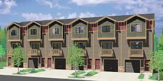 House Build Designs Pictures by 6 Plex House Plans Row House Plans Townhouse Plans Narrow Lot