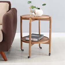 US $246.39 12% OFF|Console Table Living Room Furniture Home Furniture Oak  Solid Wood Side Table Basse End Table With Roller Minimalist 45.5*50cm-in  ...