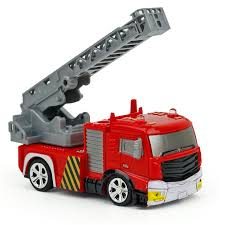 Mini RC Fire Engine Fire Truck Toy 40MHz Remote Control Ladder Fire ...