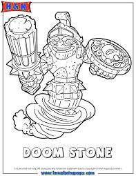 Skylanders Swap Force Doom Stone Coloring Page