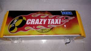 Crazy Taxi Marquee Lightbox SOLD UK VAC UK Video Arcade