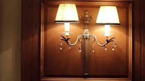 wall lights in the lobby of hotel stock footage 5693792
