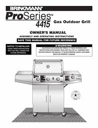 Brinkmann Electric Patio Grill Manual by Search Gas User Manuals Manualsonline Com
