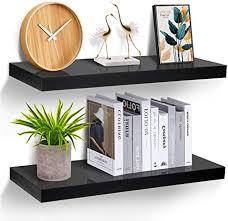 storemic wandregal schwarz regale für die wand 2er set wandregal schwarz 20 kg gewicht modern deko ausstellungsregale für mehr platz l60 x b23 5 cm