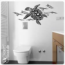 wandtattoo badezimmer schildkröte turtle wandaufkleber w1735