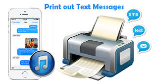 Retrieve and print text message from iTunes backup without iPhone