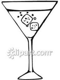 and White Martini In A Glass Royalty Free Clipart Picture