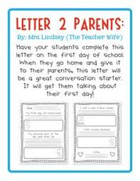 FIRST DAY OF SCHOOL LETTER TO PARENTS FREE