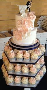 Cute Wedding Cake With Cupcakes