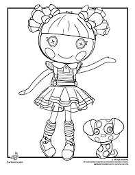 Lalaloopsy Doll Coloring Pages Ember Flicker Flame Page Cartoon Jr
