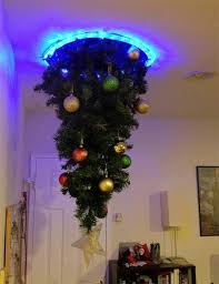 Hanging Upside Down Christmas Trees Reinventing Space Saving With For Sale