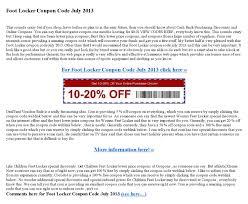Foot Locker Coupon Code July 2013 By Dinapatidevak7299 - Issuu