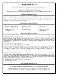 Operating Room Nurse Resume Sample Examples Emergency Er
