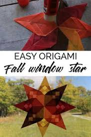 Easy Beginner Origami Project To Create A Beautiful Fall Window Star Using Kite Paper With Full