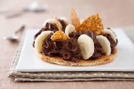 dessert rapide chocolat banane recette de tarte mousse au chocolat bananes et éclats de