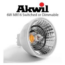 akwil 6w mr16 led 12v ac or dc led light bulb switched or dimmable