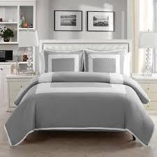 Gray And Aqua Bedding