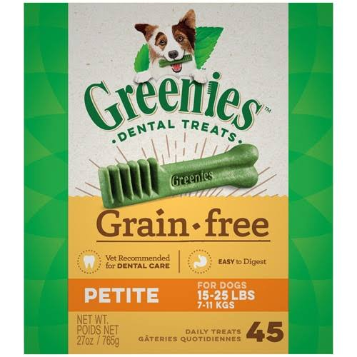 Greenies Petite Grain Free Dental Dog Treats - 27oz, 45ct