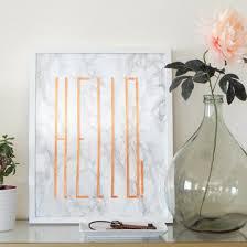DIY Marble Copper Wall Art