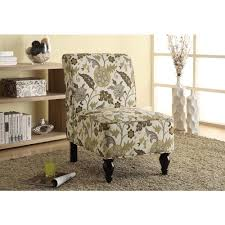 Brown And Gold Fabric Accent Chair
