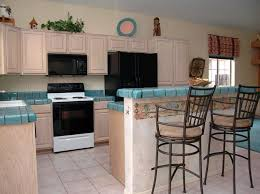 Southwest Decor Interior Design Decorations Blue Tile Counters Tacky Outdated Phoenix Home