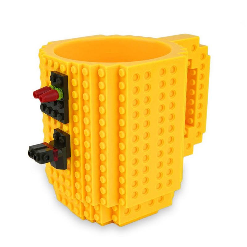 ThinkGeek Build-On Brick Mug - Black