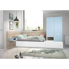 3 tlg schlafzimmermöbel set stanley isabelle max farbe weiß hellblau