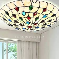 Stained Glass Flush Mount Ceiling Light Lighting Fixtures For Dining Room