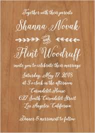Rustic Country Wood Wedding Invitations