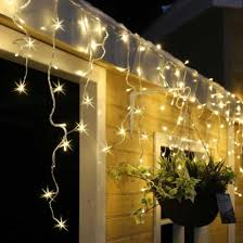 720 warm white led snowing icicle lights