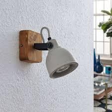 lindby mirka spot pour plafond led bois et béton led