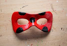 Halloween Town Sora Mask by Honeycomb Plain Ladybird Leather Mask Made To Order