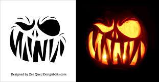 Minion Pumpkin Stencil Printable by Minion Halloween Pumpkin Designs