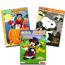 Mickey Mouse Halloween Coloring Pictures by Amazon Com Disney Peanuts Halloween Coloring Books Super Set Kids