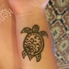 Drawn Turtle Henna 1