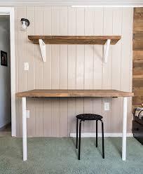 simple diy wall desk shelf u0026 brackets for under 23 jenna