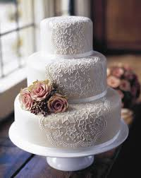 Lace Wedding Cake 4