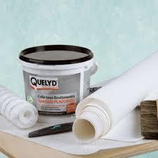 poser fibre de verre plafond tutoriel coller de la toile de verre au plafond