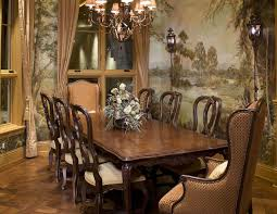 Formal Dining Room Furniture Presenting Some Vintage Chairs Luxury Ideas Unique Legs Balls Turned Brown Finish Mahogany Wood Long
