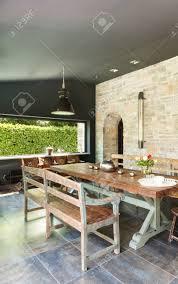 interieur modernes haus esszimmer rustikale möbel