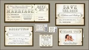 Read More Vintage Rustic Wedding Ticket Invitation Tear Off Rsvp Invitations