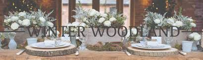WINTER WOODLAND WEDDING DECORATIONS FOR SALE TREE SLABS RUSTIC