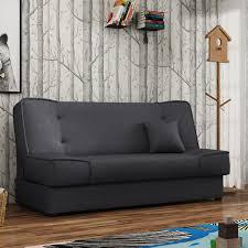 mirjan24 schlafsofa gabi mit bettkasten 3 sitzer sofa mit schlaffunktion stilvoll bettsofa wohnzimmer polstersofa 96