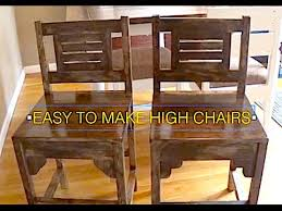 HOW TO MAKE HIGH CHAIRS KITCHEN TABLE RUSTIC ANTIQUE WOOD
