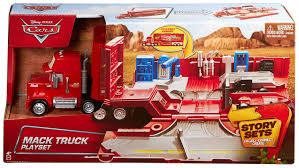 100 Cars Mack Truck Playset Disney CDN64 Pixar Toy Lightning McQueen