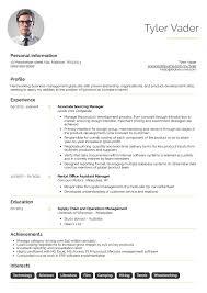 Management Resume Samples Business Graduate Cv Example Career